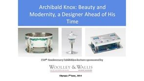 Archibald Knox Society exhibition and lecture on Vimeo