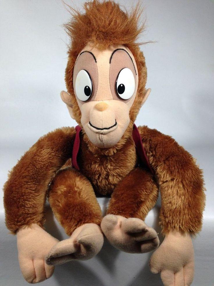 "Vintage Walt Disney Company Aladdin Movie Abu Monkey Stuffed Plush 16"" Rare #Disney"
