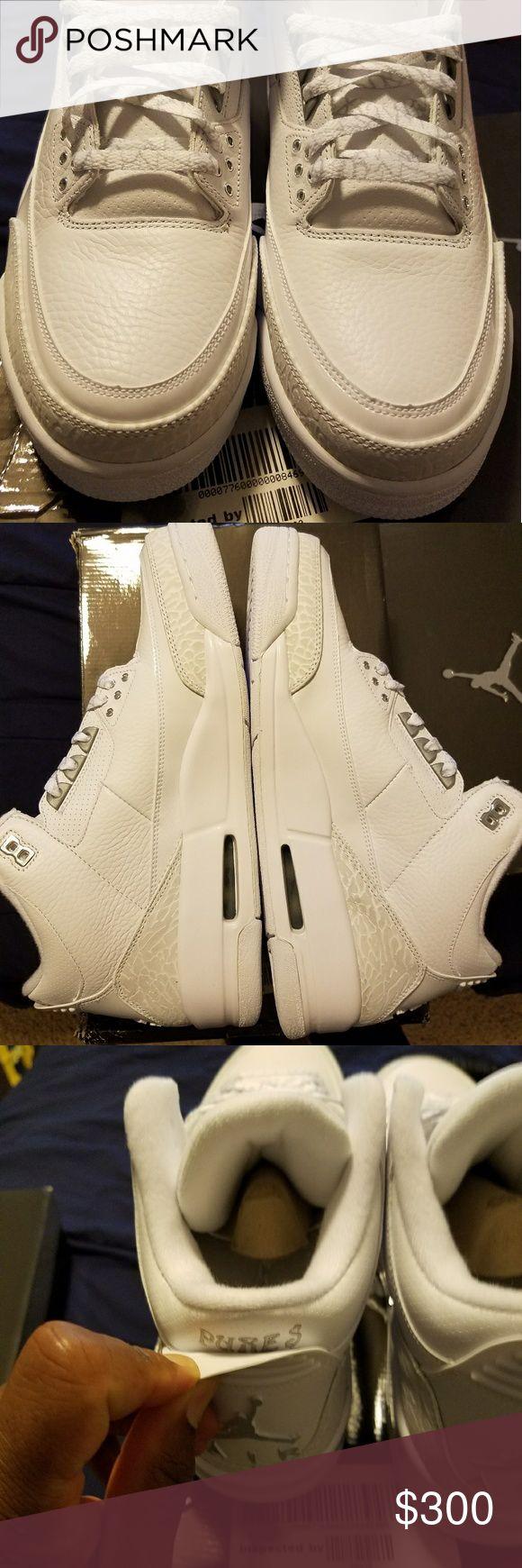 Jordan New Jordan 3's pure white Jordan Shoes Sneakers