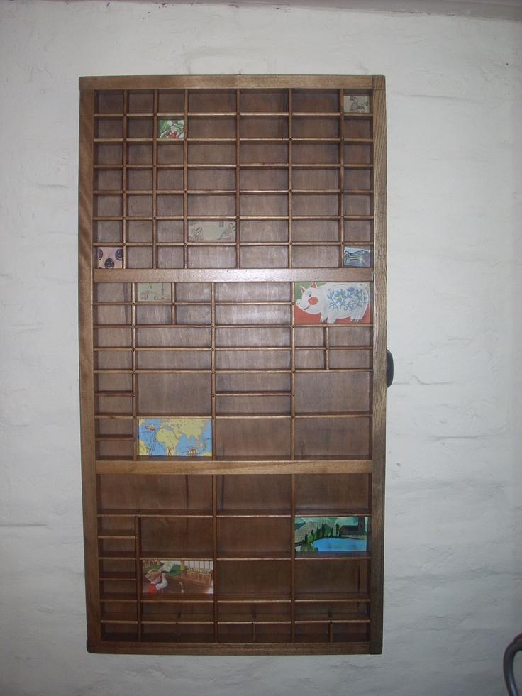 Impecables cajones antiguos de tipograf a para usar de - Cajones de madera antiguos ...