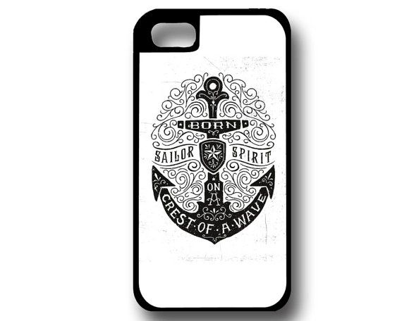 Navy Anchor Phone Case iPhone Case Samsung Galaxy by SImpressed, $20.00