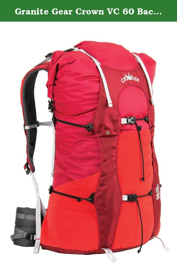 Granite Gear Crown VC 60 Backpack - Tamarillo/Blood Orange Long. Introducing the Crown 60, with Vapor Current Suspension technology. Weighing less than the Vapor Trail at 2 lbs, 2 oz (1 lb 13 oz with frame removed), the Crown 60 is a top loader with a secure roll-top closure that provides easy access. The simple lidless design can be upgraded with our optional LineLoc lid. The frame itself is removable so the pack can be used for ultralight loads without the frame. The belt and shoulder...
