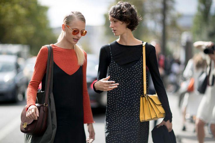 Street fashion: modelki off duty na Paris Fashion Week SS17