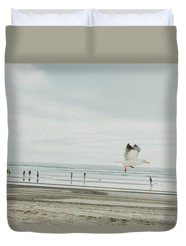 """California Seagull"" Bird photography on a Duvet Cover by Valerie Rosen Photography"