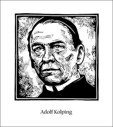 "St. Adolf Kolping | Catholic Christian Religious Art - Artwork by Julie Lonneman - From your Trinity Stores crew, ""St. Adolf please pray for us!"""