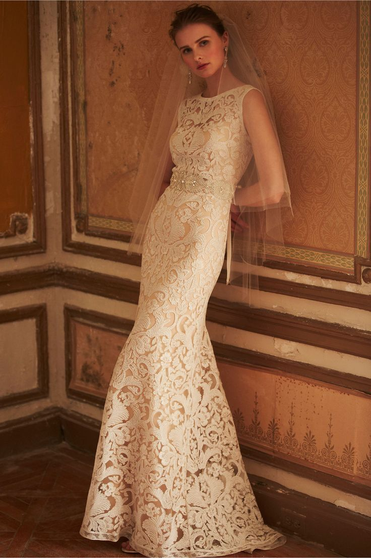 Gorgeous detailing on this lace wedding gown by BHLDN