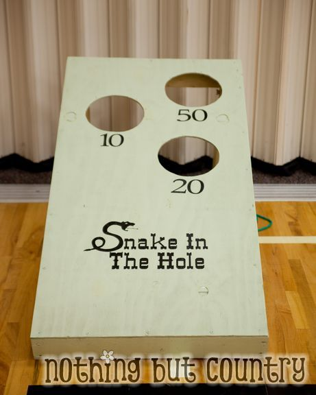 Snake in the hole game - Western / Cowboy Cub Scout Blue & Gold Banquet | NothingButCountry.com