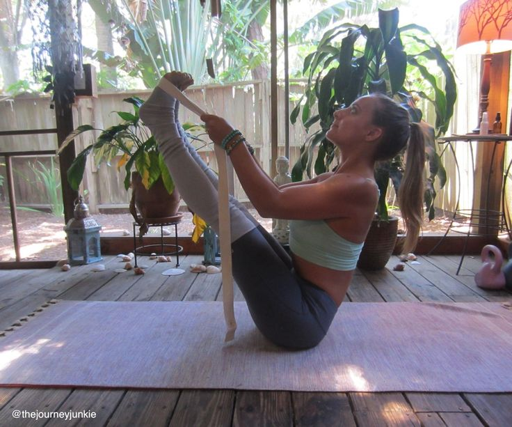 Yoga Tutorial: How to Use a Strap - The Journey Junkie