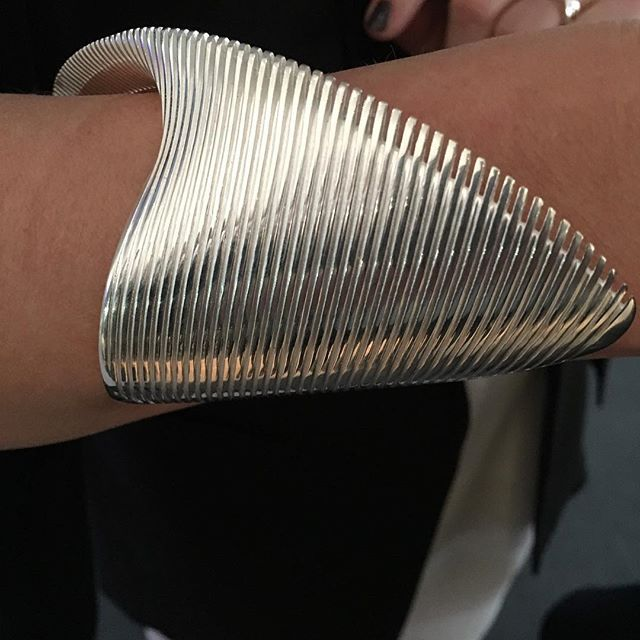 Zaha Hadid designed bracelet worn by @georgjensen new CEO @baselworld2016  Patrick's Day 2016...