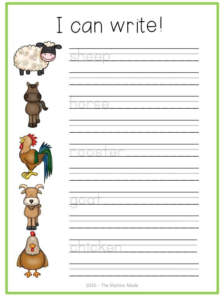 farm animals great for vocabulary and writing practice work 70 pages in total best of. Black Bedroom Furniture Sets. Home Design Ideas