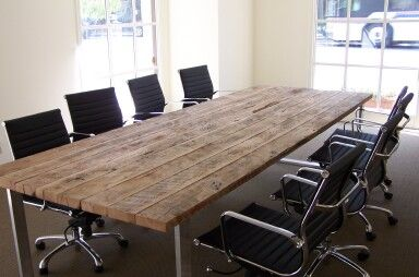 Conference Table  - Reclaimed Wood - Black's Farmwood, Inc. - reclaimed wood flooring, siding, and beams - Commercial Projects