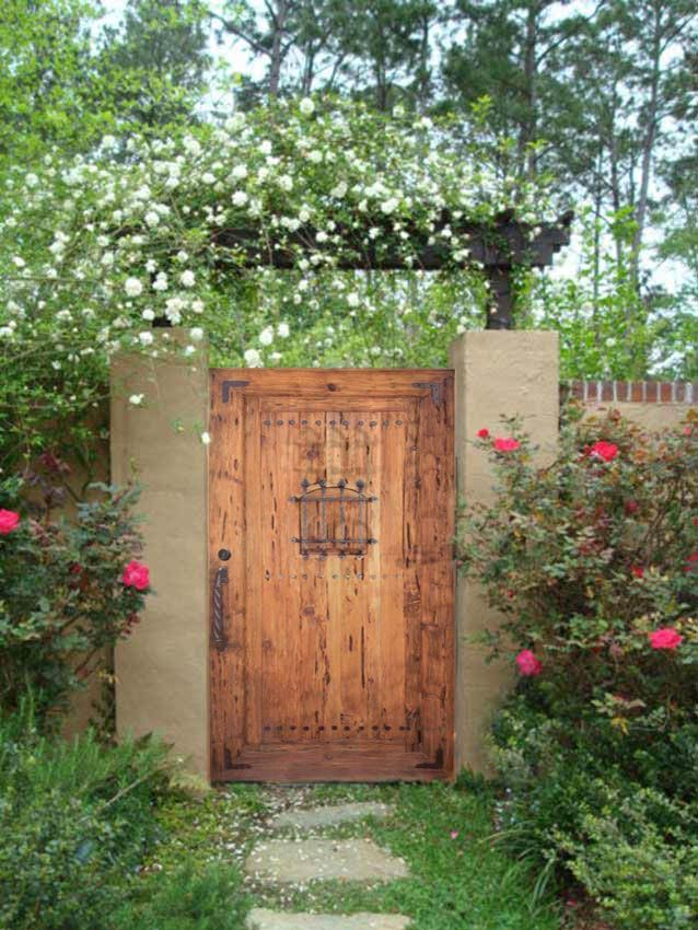 Garden Gates Estate Gates Speakeasy Gate Rustic Gate In 2019