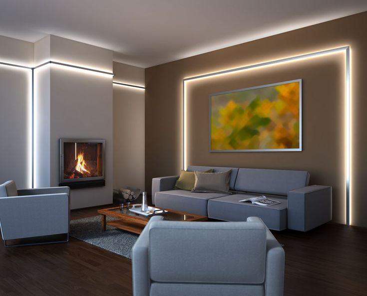 Dir Fehlt Das Gewisse Etwas Im Wohnzimmer Unsere Led Stripes Ermoglichen Di Beleuchtung Wohnzimmer Indirekte Beleuchtung Wohnzimmer Led Beleuchtung Wohnzimmer