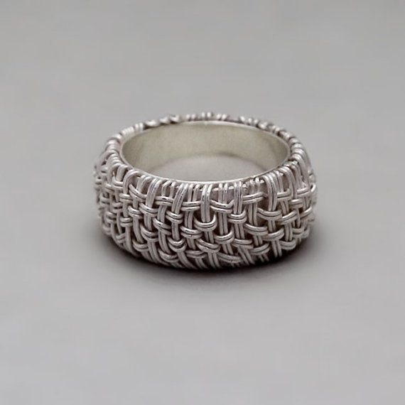 Mens Silver Ring Fine Silver Ring Womens Silver by ToolisJewelry