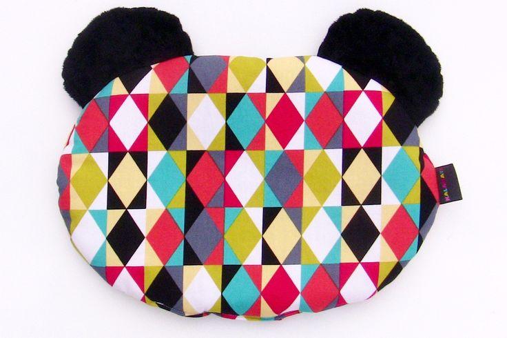 Poduszka dla niemowlaka. Kolorowa, bardzo przyjemna w dotyku. 100% bawełny w połączeniu z polarem minky.