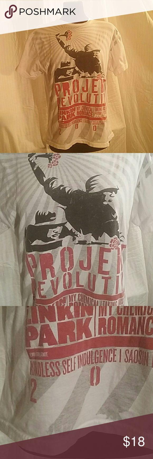 Vintage 2001 Project Revolution tee Band Tour tee shirt Linkin Patk,  My Chemical Romance, TalkingBack Sunday,  Himi Palcedo, Julien K Vintage Shirts Tees - Short Sleeve