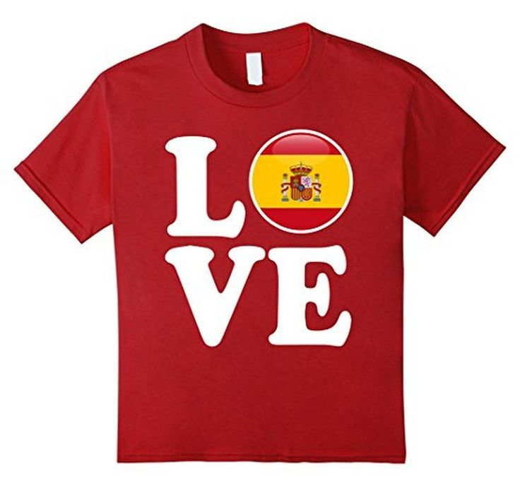 Men's Spain Love Espana Flag Football Futbol Bandera T-Shirt