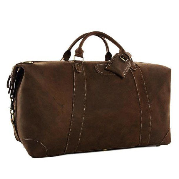 """This amazing vintage leather duffle bag is made of genuine Italian leather which gives it a unique rustic look. It has a very large capacity for everything you need for your vacation, including separate compartments for a 17"""" laptop, cell phone, wallet and more. to keep all your belongings right where they should be. This bag comes with a detachable and adjustable shoulder strap for easy carry with style."""