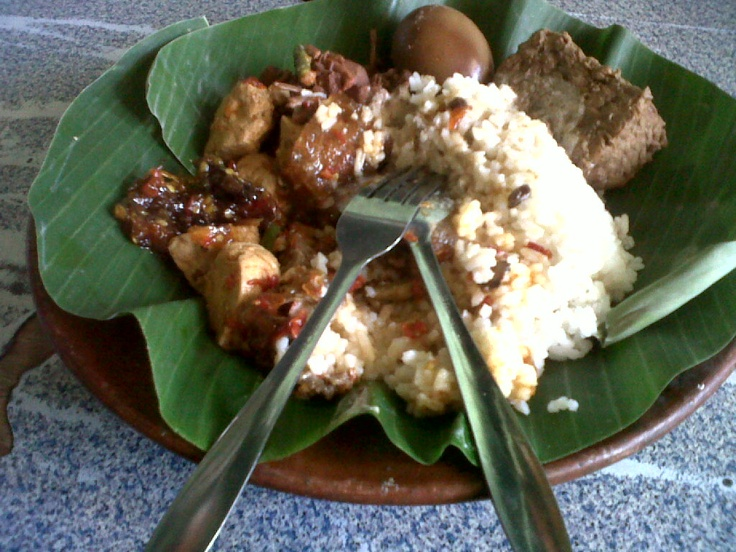 Gudeg (Jogjakarta's Traditional food...)but can find it Bandung, West Java- Indonesia...