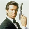 Pierce Bronson.  Next after Shaun Connery, Pierce was the best James Bond