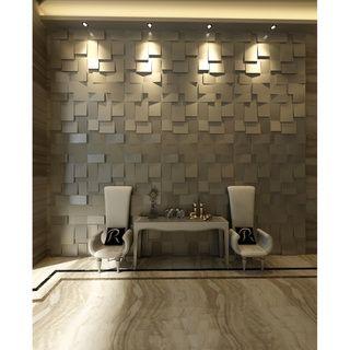 @Overstock.com - 3D 'Cubes' Wall Panels (Set of 10) - Add a modern, textured…