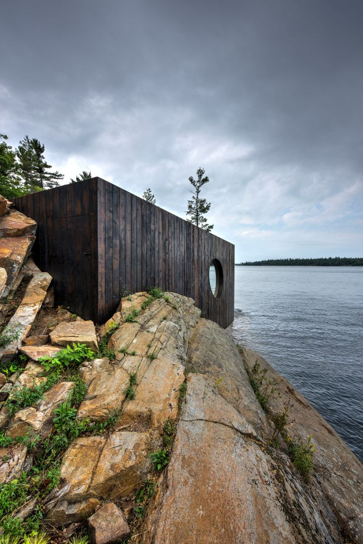 Sauna, Canada, Lake Hudson, Partisans