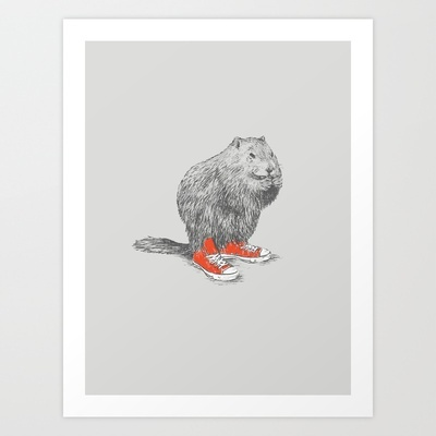 Woodchucks Art Print by David Schwen - $20.00