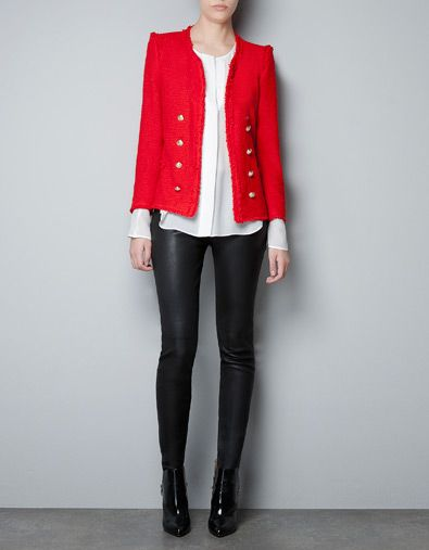 FANTASY FABRIC BLAZER - Blazers - Woman - ZARA United States. LOVE! $129