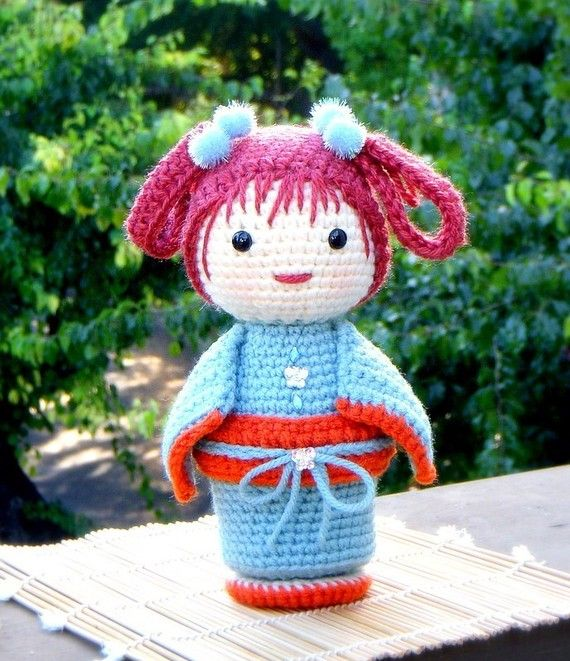 Amigurumi pattern ChoCho Crochet Amigurumi Kokeshi by TGLDdoll