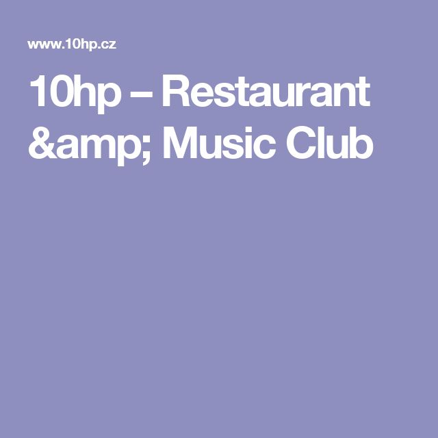 10hp – Restaurant & Music Club