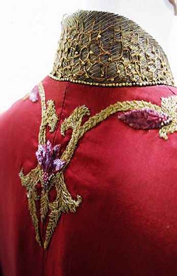 Embroidery details of Cersei Lannister's gown / Costume design by Michele Carragher