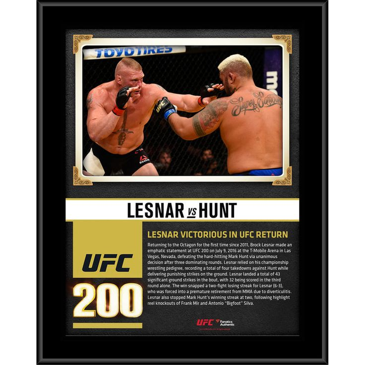 """Brock Lesnar Ultimate Fighting Championship Fanatics Authentic 10.5"""" x 13"""" UFC 200 Win Over Mark Hunt Sublimated Plaque"""