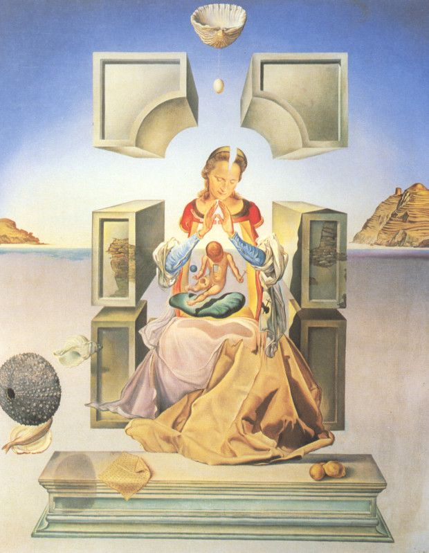 Salvador Dali, The Madonna of Port Lligat, 1949, Marquette University, Milwaukee, Wisconsin