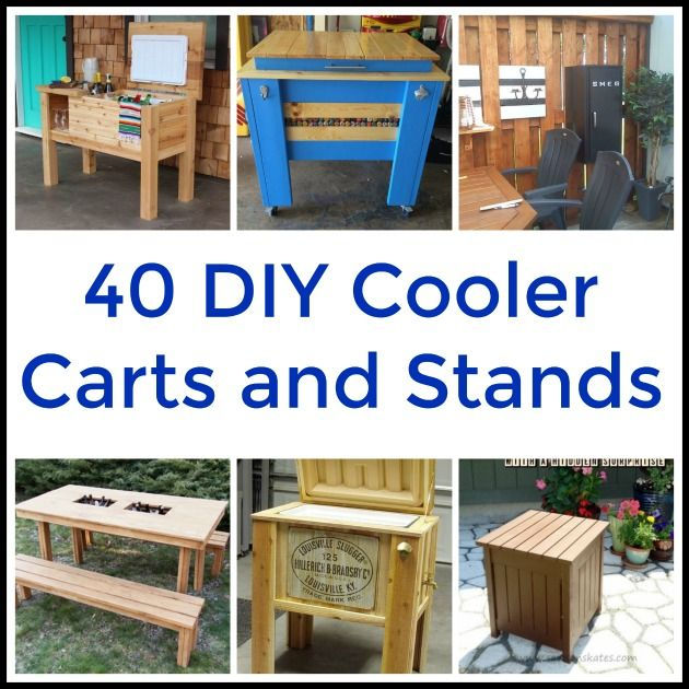Hey! Have we got a terrific DIY project for you today! If you love the outdoors & spending time with family and friends, then this is one you're going to want to try. Why not make a cooler cart or cooler stand? It can be time consuming to go in and out of the house