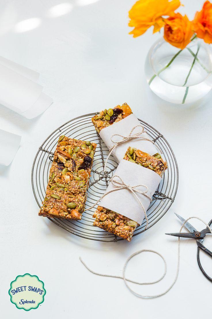 Homemade Pumpkin Spiced Snack Bars sweetened with SPLENDA® Naturals Sweetener / Sweet Swaps #ad