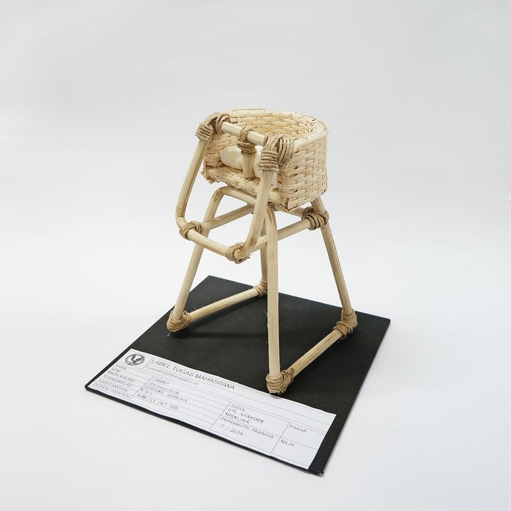 [Rattan Furniture] 3D model of high chair by Carmen (batch 2014, UPH Product Design)