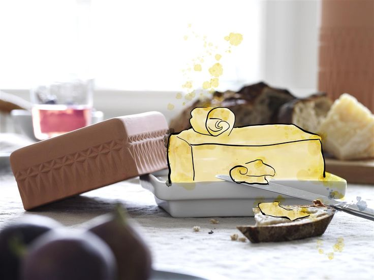 Butter, the way the cows meant it to be. Stylish and classical terracotta ANVÄNDBAR butter dish. Keeps your butter fresh and ready to use. Get a genuine touch of kitchen class. And start to live a little kinder. #Livealittlekinder #IKEAcollections #ANVÄNDBAR #IKEA #greenhomes #butterdish