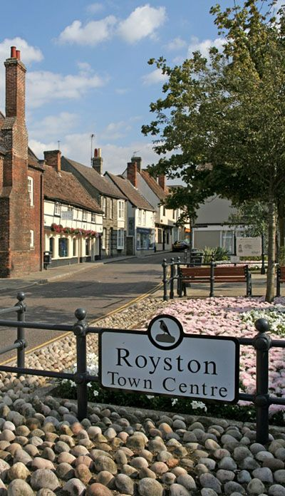 The town of Royston in Hertfordshire, England, UK
