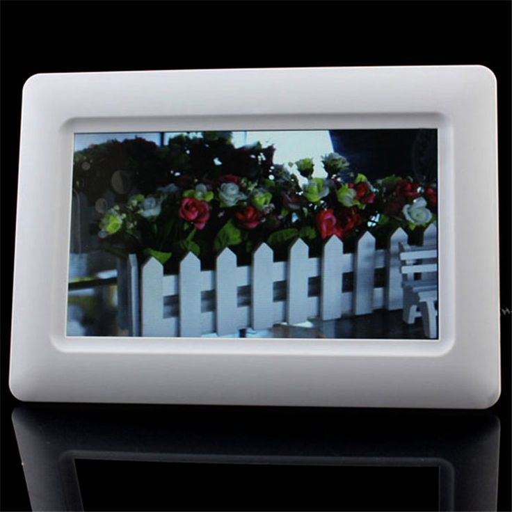 """==> [Free Shipping] Buy Best New Hot 7"""" TFT LCD Vertical HD Digital Photo Frame Alarm Clock Support U SD MMC MS USB White Play pictures photos clock/calendar Online with LOWEST Price 