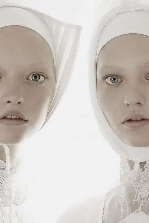 Gemma Ward and Sasha Pivovarova by Steven Meisel for Vogue Italia