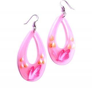 Pink fülbevaló