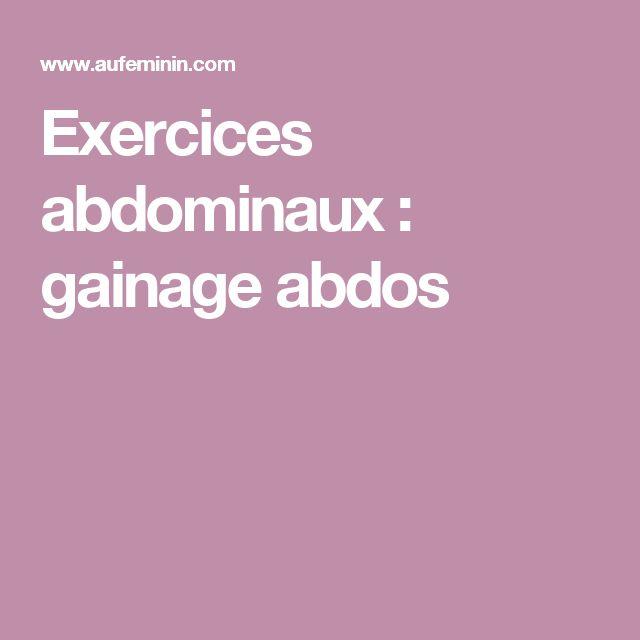 Exercices abdominaux : gainage abdos