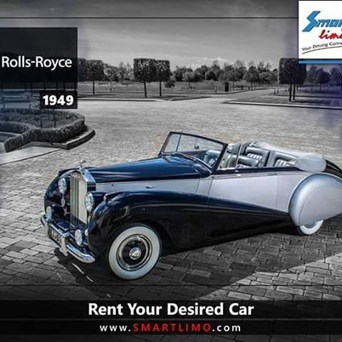 It's a Rolls Royce Model 1949 #Antique_cars  #smartlimo #infographic #car_rental #rolls_royce #oldcars