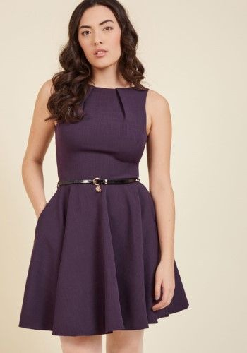 Closet London Luck Be a Lady ALine Dress in Violet, Size