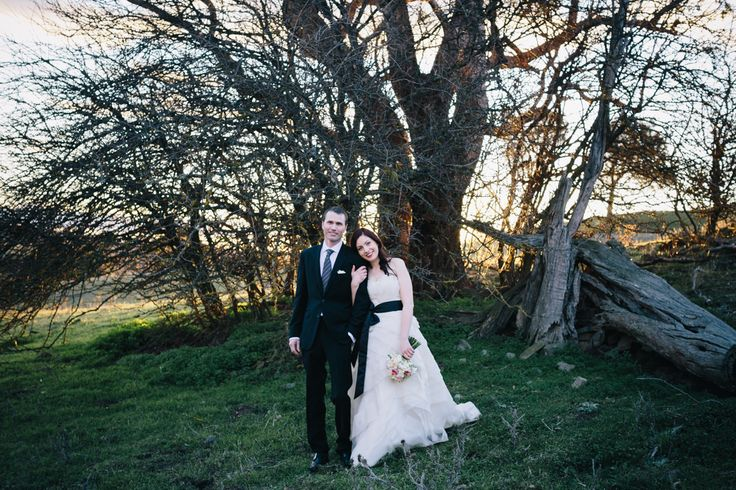Poachers Pantry - country style wedding reception and ceremony venue near Canberra. Casual winter wedding - Vera Wang dress