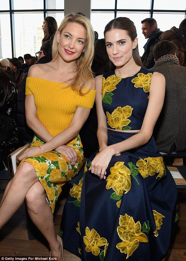 Kate Hudson and Allison Williams - Michael Kors Fall 2015 Front Row #NYFW