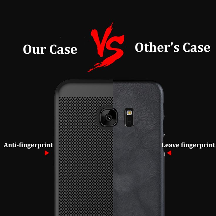 Mesh Dissipating Heat Anti Fingerprint Hard PC Case For Samsung Galaxy S7