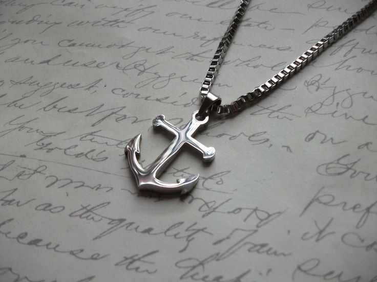 Stainless steel anchor men's necklace de la boutique BijouxdeBrigitte sur Etsy