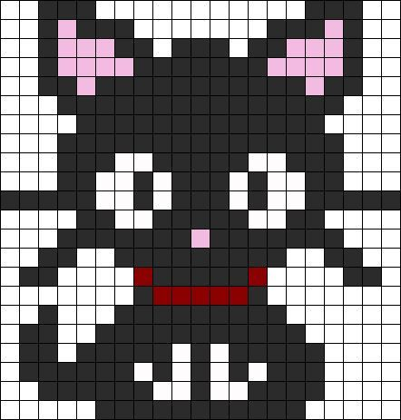 Easy Pixel Art Cat Google Search Perler Beads Cross
