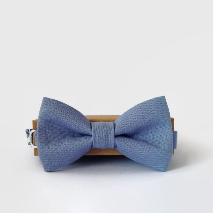Little Beau Muted Blue Bow Tie on Etsy. $29.00